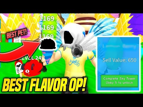 THE BEST FLAVOR IN ICE CREAM SIMULATOR IS INSANELY GOOD!! *1000 Rebirths* (Roblox)
