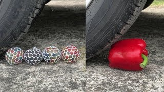 Crushing Crunchy & Soft Things by Car! - Balloon, Orbeez, Watermelon and More!
