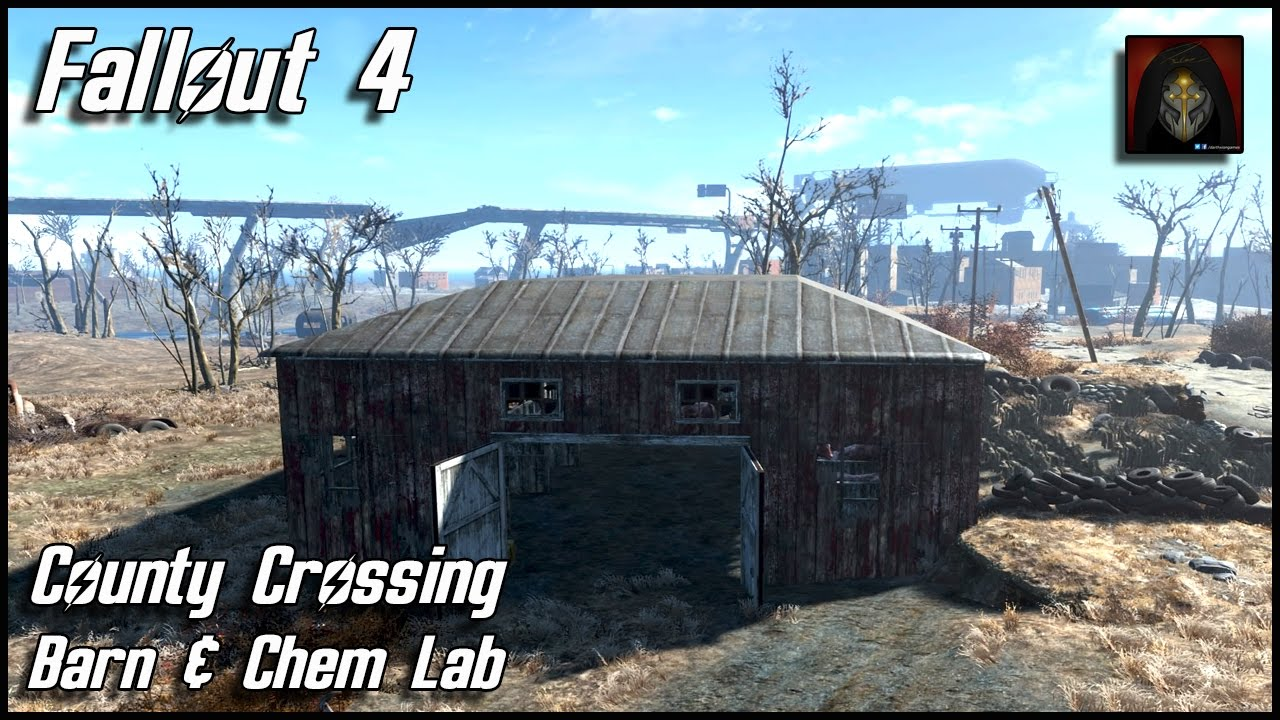Fallout 4 County Crossing Brahmin Barn Amp Chem Lab Youtube