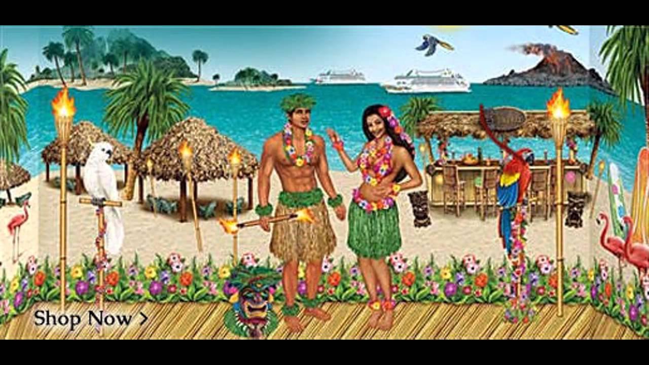 stunning hawaiian party decorations youtube
