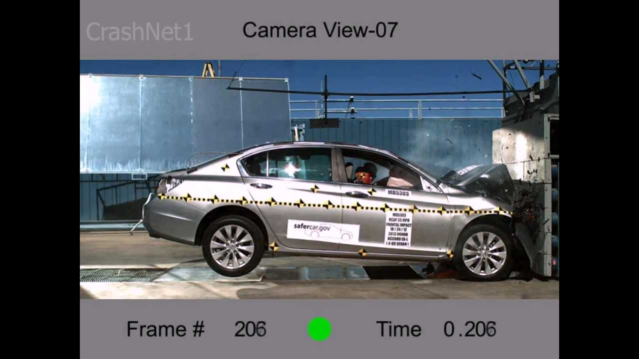 Honda Accord Sedan | 2013 | Frontal Crash Test | NHTSA | CrashNet1   YouTube