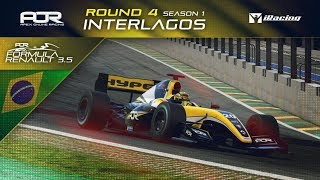 iRacing | AOR Formula Renault 3.5 League | S1 | R4: Interlagos