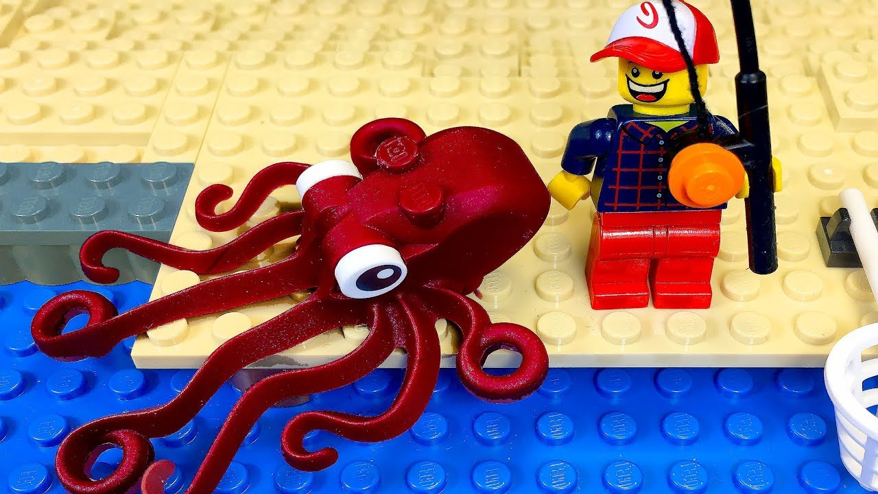 Lego Extreme Fishing  🐙 Stop Motion Lego Animation 🔴 🎣