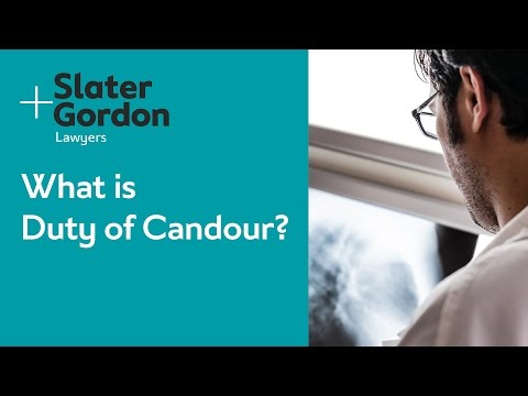 What is Duty of Candour?