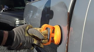 Fix a dent quick cheap and easy! TESTING THE CHEAPEST DENT PULLER ON AMAZON!!