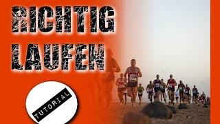 Richtig Laufen - Laufstil verbessern - Lauftechnik - Joggen für Anfänger - schneller werden