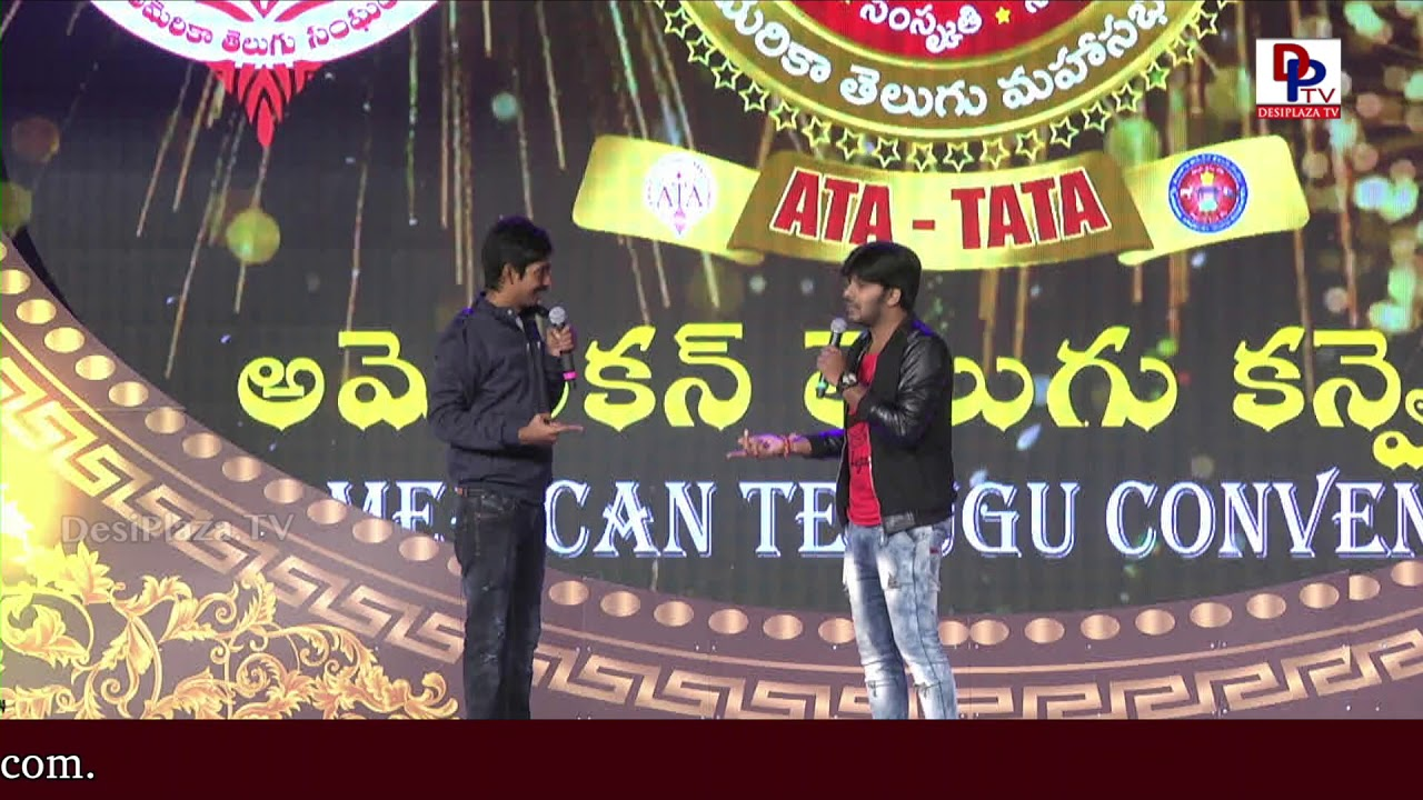 Sudigali Sudheer and Dhanadhan DhanRaj Hilarious Comedy at American Telugu Convention | DesiplazaTV