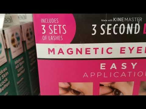 Magnetic eyelashes Walmart clearance section - YouTube