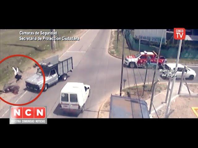 CINCO TV - El COT asistió rápidamente a un motociclista luego de un impactante choque