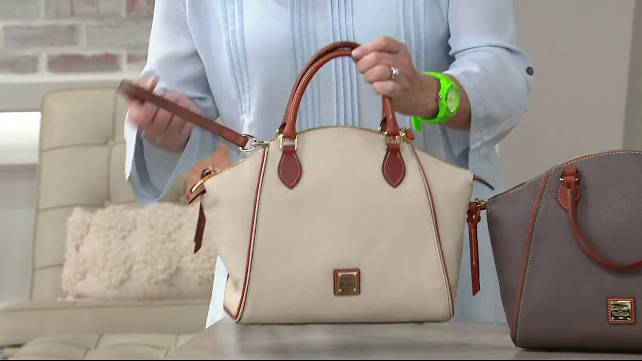 Dooney Bourke Pebble Leather Satchel Handbag Sydney On Qvc