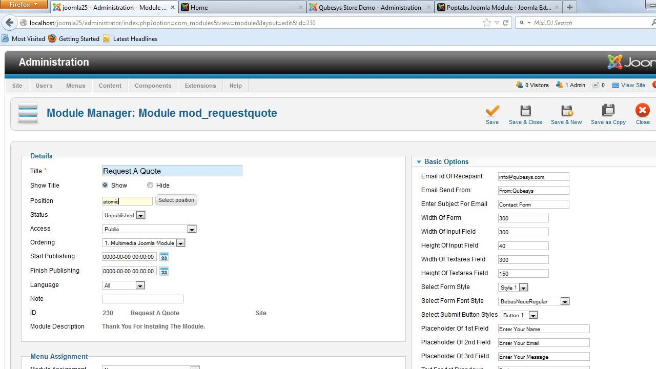 Request For Quote Request A Quote Joomla Module  Youtube