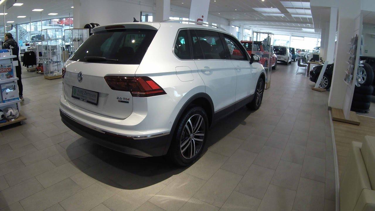 Vw Tiguan 2 0 Tdi Highline New Model 2017 White Colour Walkaround And Interior You