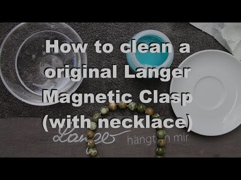 Clean Silver Langer© jewel magnetic clasp with necklace