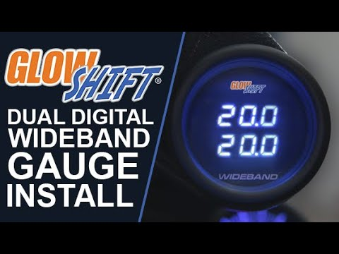 GlowShift | How To Install A Dual Wideband Gauge - YouTube on wiring diagram for speakers, wiring diagram for horn, wiring diagram for relays, wiring diagram for lighting, wiring diagram for lights, wiring diagram for radio,
