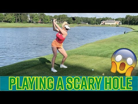 Playing a SCARY HOLE! // Golf with Paige Spiranac