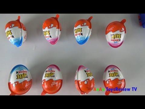 Bóc trứng Kinder Joy - Trò chơi bóc kẹo trứng socola - Kinder Joy surprise eggs