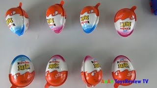 tro choi boc keo trung socola - kinder joy surprise eggs  anan toysreview tv