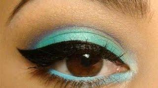 ❀♡Макияж для карих глаз/ Макияж с голубыми тенями❀♡
