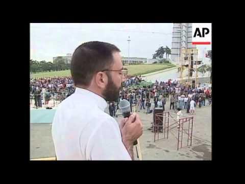 CUBA: HAVANA: FINAL PREPARATIONS MADE FOR POPE JOHN PAUL II VISIT