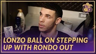 Lakers Interview: Lonzo Ball on Stepping Up while Rondo Is Out With Hand Injury