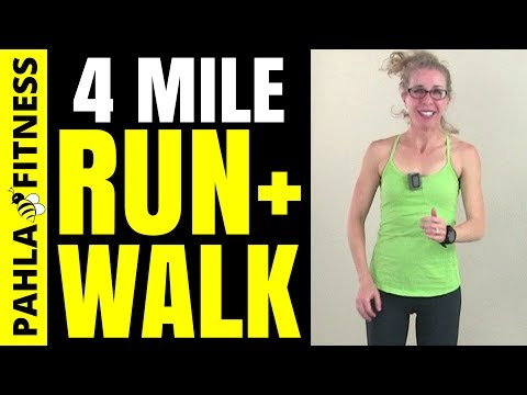 4 Mile RUN + WALK | 50 Minute Indoor RUNNING + WALKING Interval Workout with Warm Up