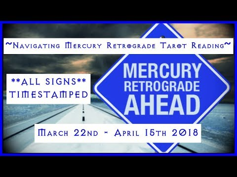 Mercury Retrograde Tarot Reading - All Signs, Time-stamped! Part #1