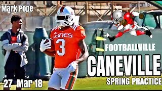 Miami hurricanes spring football practice - 27 march 2018