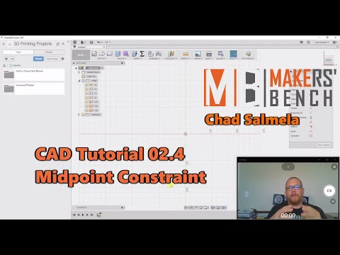 CAD Tutorial 02 4 Midpoint Constraint - YouTube