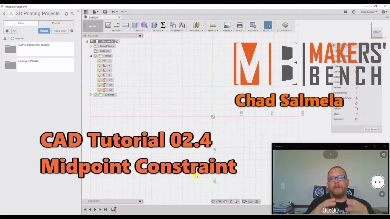 CAD Tutorial 02 4 Midpoint Constraint