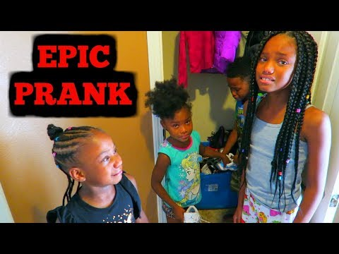 My Daughter Camari Is Staying For School Prank On Kids! thumbnail