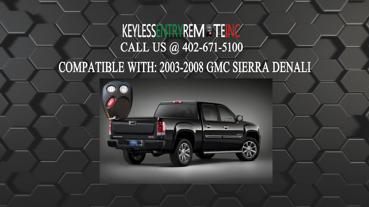 How To Replace Gmc Sierra Denali Key Fob Battery 2003 2008