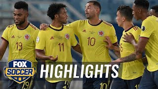 Colombia holds off Ecuador, 1-0, thanks to Cardona's 1st half goal   2021 Copa América Highlights