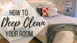 HOW TO CLEAN YΟUR ROOM FAST IN 10 STEPS | 2018