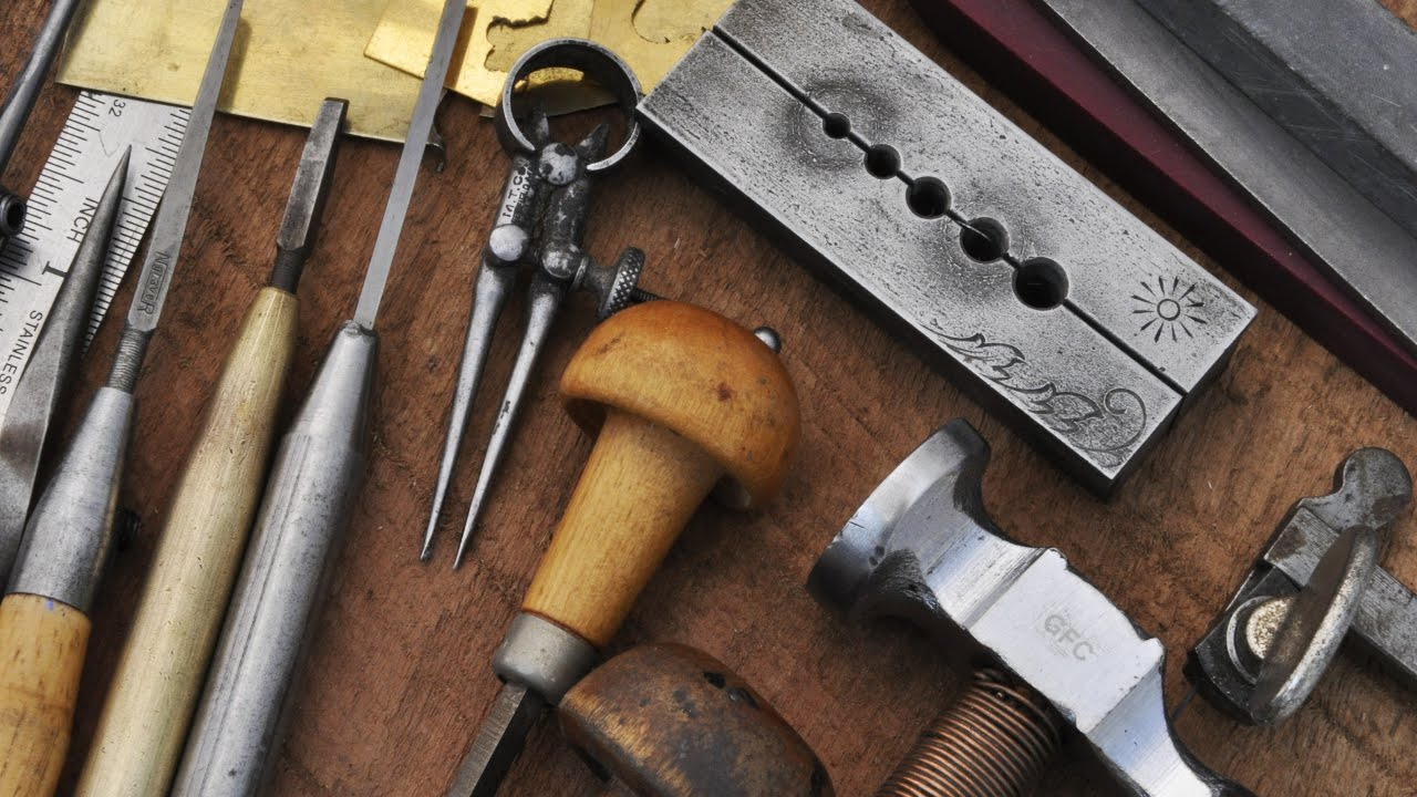 Hammer And Chisel Hand Engraving Tools And Workspace