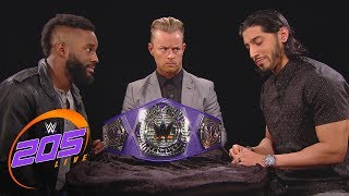 cedric alexander mustafa ali address their wrestlemania match wwe 205 live march 27 2018