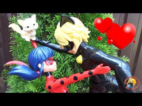 ЛЕДИ БАГ влюбилась в КОТА! Мультик с куклами Приключение Видео для детей Ladybug play toys dolls - Как поздравить с Днем Рождения