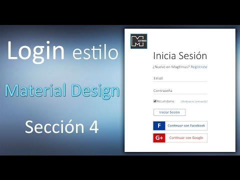 Como hacer login / Register estilo Material Design   HTML5 - CSS3 - JQUERY   Sección4