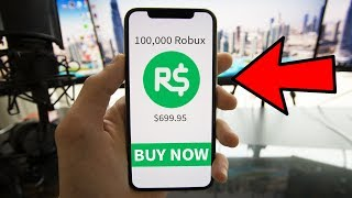 BUYING 100,000 ROBUX for ROBLOX GIVEAWAY..