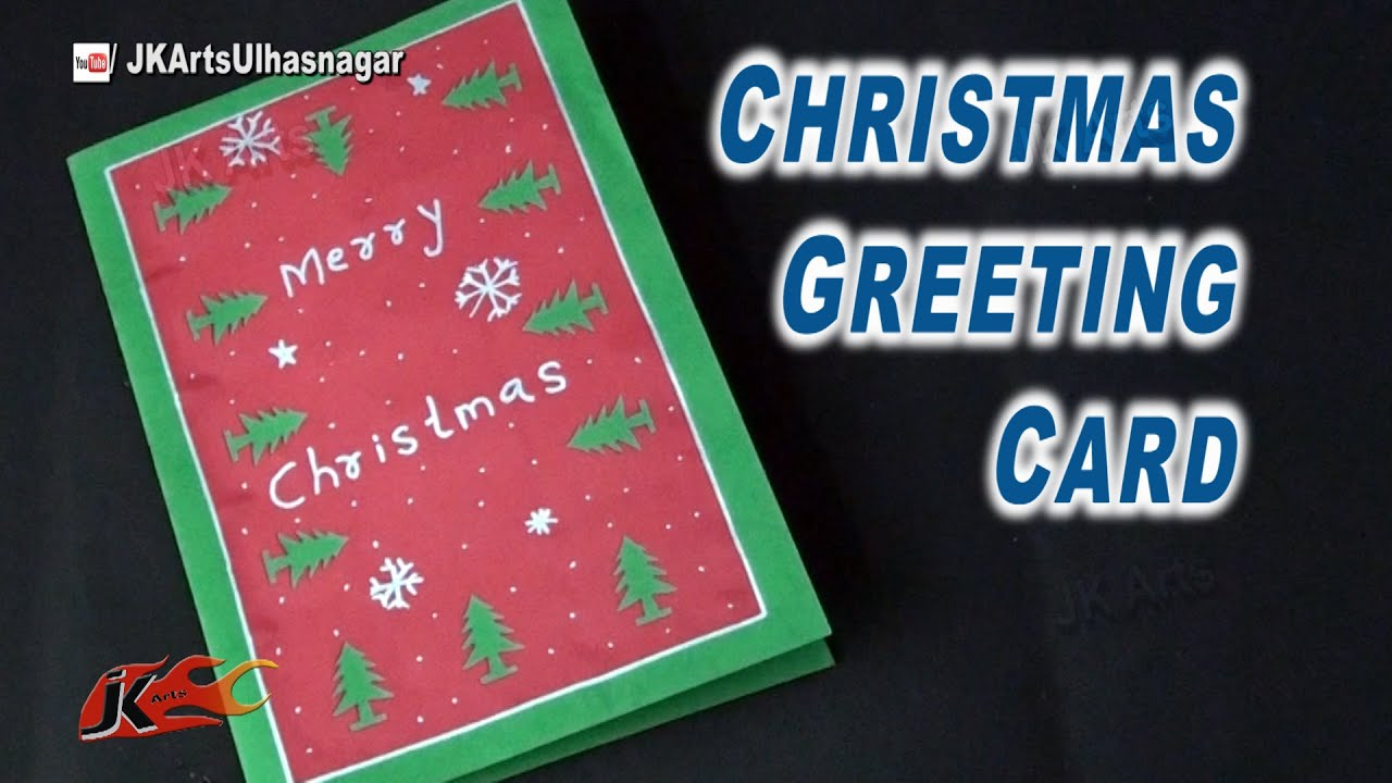 How to make easy christmas card school project for kids jk arts how to make easy christmas card school project for kids jk arts 826 youtube kristyandbryce Gallery