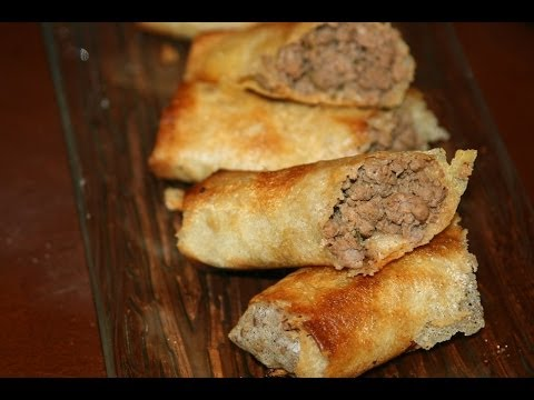 moroccan-beef-stuffed-rolls-recipe---recette-rouleaux-marocains-à-la-viande-hachée---recettes-maroc