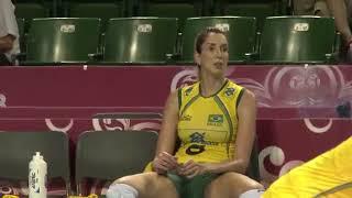 Brazilian volleyball players showed (Brezilyalı voleybolcular frikik verdi)