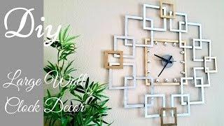 Diy Large Wall Clock Decor| Wall Decorating Idea.