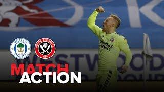 Wigan 0-3 Blades - match action