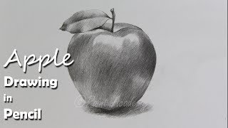 How to Draw Aฑ Apple in Pencil | step by step how to use pencil strokes | Artist : Supriyo