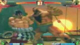 Densetsu no AB7 (E.Honda) vs. Maho Shojo Zangitan (Zangief)