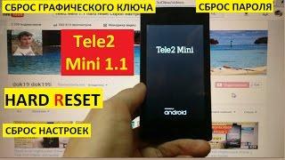 Hard reset Tele2 Mini 1.1 Сброс настроек