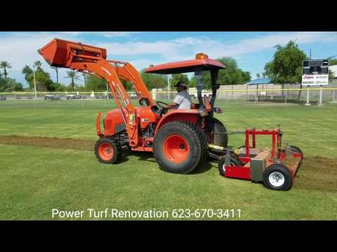 Sports Turf Renovation Machine: Baseball Infield Lip Removal, Aerating, Dethatching, Verticutting