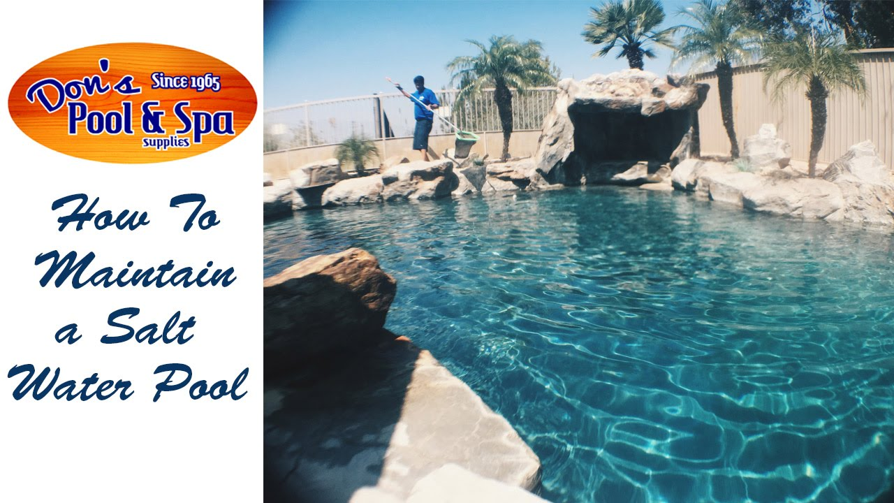 how to make a saltwater pool clear