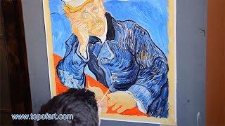 Vincent van Gogh - Portrait of Doctor Gachet   Art Reproduction Oil Painting