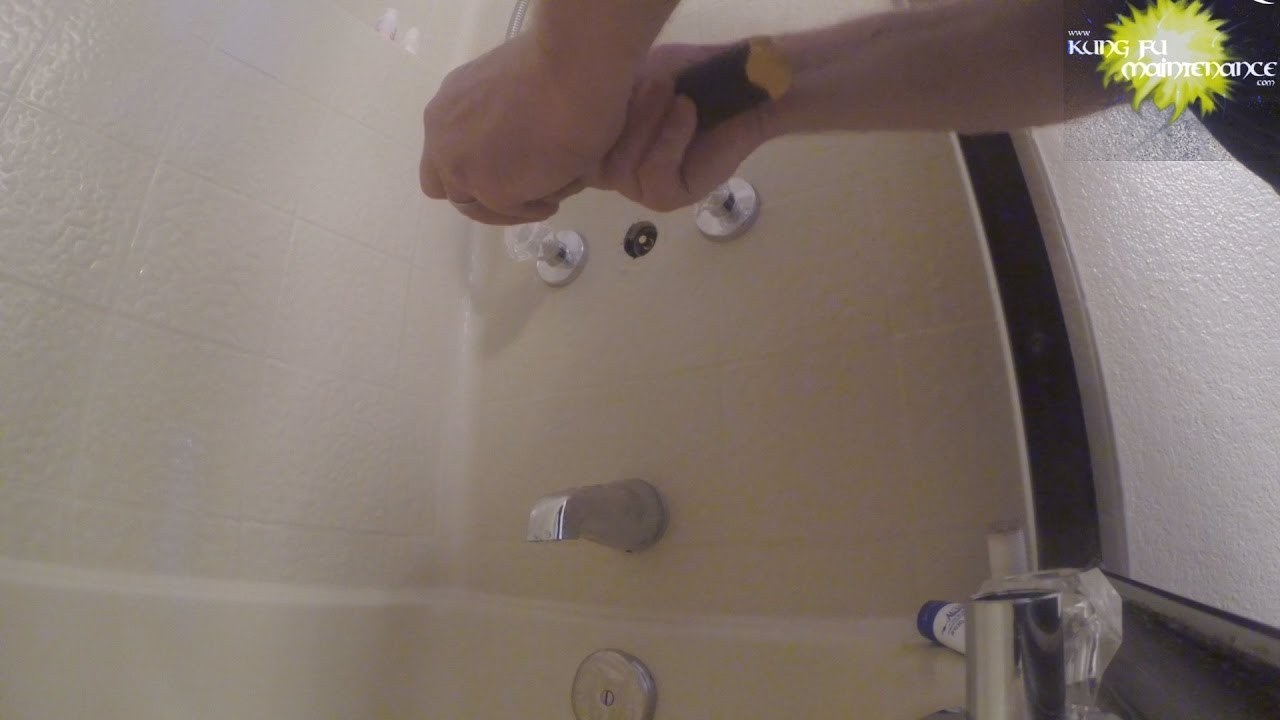 Bathtub Shower Diverter Missing Washer Temporary Repair Till New Washer  Located   YouTube